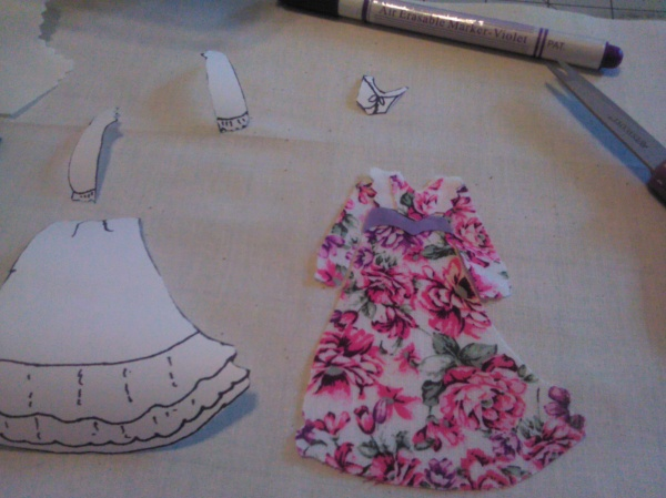 Use freezer paper to create my dress pattern.