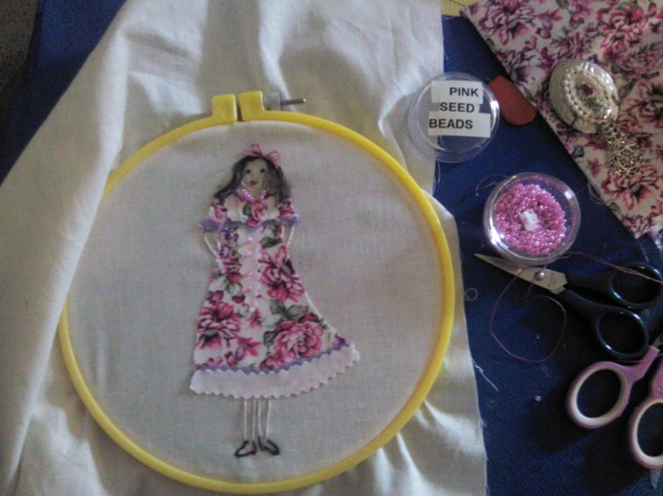 With a little embroidery floss my girl is born